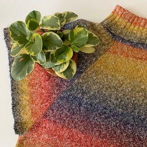 • vintage rainbow shortsleeved sweater •